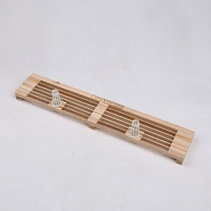 Beekeeping supplies 6 rows 2 hole wooden bee hive pollen traps