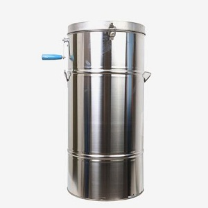 2 frame manual stainless steel honey extractor