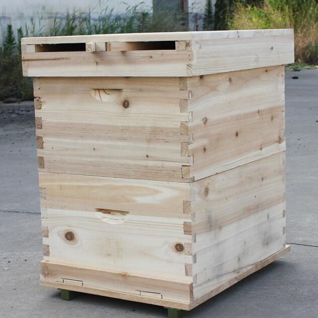 Beekeeping double layer higher fir wooden Beehive