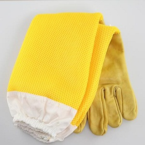 Beekeeping equipment yellow sheep leather beekeeping gloves for sale
